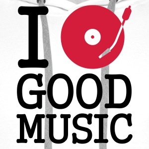 I dj / play / listen to good music - Felpa con cappuccio premium da uomo