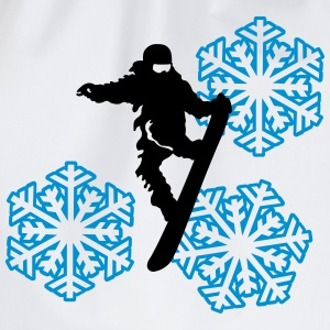 slopestyle+snowflake T-Shirts - Drawstring Bag