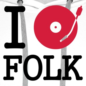 I dj / play / listen to folk - Premium hettegenser for menn