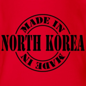 made_in_north_korea_m1 Camisetas de manga larga - Body orgánico de maga corta para bebé