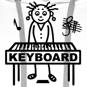 Keyboard player woman T-Shirts - Men's Premium Hoodie