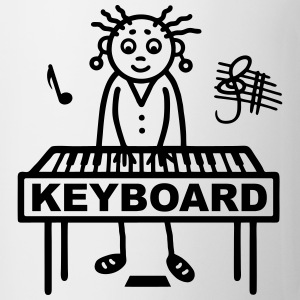 Keyboard player woman T-Shirts - Mug