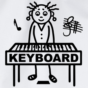 Keyboard player woman Shirts - Drawstring Bag