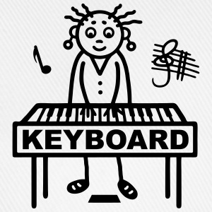 Keyboard player woman Shirts - Baseball Cap