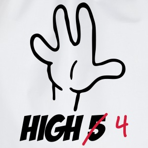 high five :-) Camisetas - Mochila saco