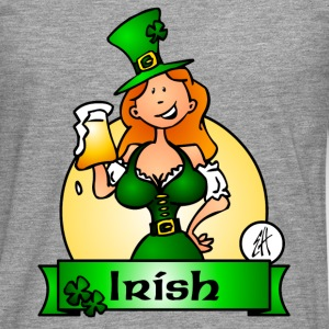 St. Patrick's Day Irish Maiden Sweat-shirts - T-shirt manches longues Premium Homme