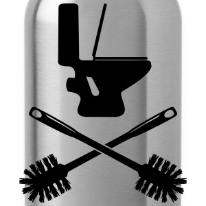 Toilettes avec WC brosse Tee shirts - Gourde