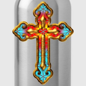 Cross Christian Church Jesus God Religious Belief T-Shirts - Water Bottle