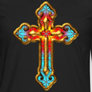 Cross Christian Church Jesus God Religious Belief T-Shirts - Men's Premium Longsleeve Shirt