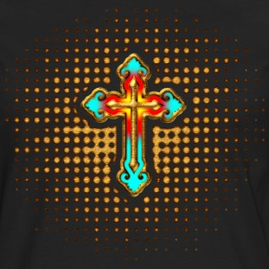 Cross Christ Church Jesus God Religious Belief T-Shirts - Men's Premium Longsleeve Shirt