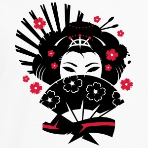 A geisha with a fan  T-Shirts - Men's Premium Longsleeve Shirt