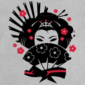 A geisha with a fan  Shirts - Baby T-Shirt