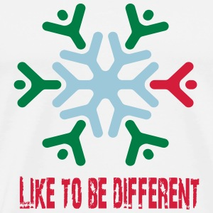 Like to be different Flasker & krus - Herre premium T-shirt