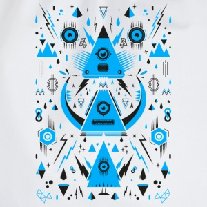Abstract Triangle Transformation Camisetas - Mochila saco