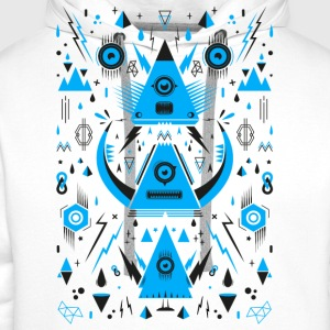 Abstract Triangle Transformation Camisetas - Sudadera con capucha premium para hombre