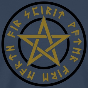 Pentagram element magic symbol runor stjärna craft Långärmade T-shirts - Premium-T-shirt herr
