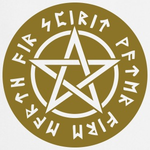 Pentagram element magic symbol runor stjärna craft T-shirts - Förkläde