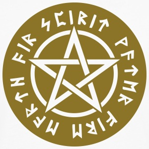 Pentagram element magic symbol runor stjärna craft T-shirts - Långärmad premium-T-shirt herr