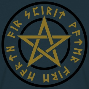 Pentagram element magic symbol runor stjärna craft Tröjor - T-shirt herr