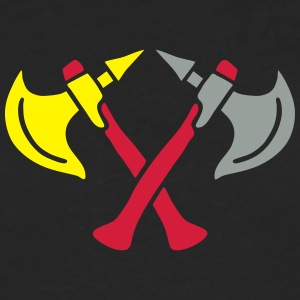 brave warrior gladiator axe tomahawk knights fight T-Shirts - Männer Premium Langarmshirt