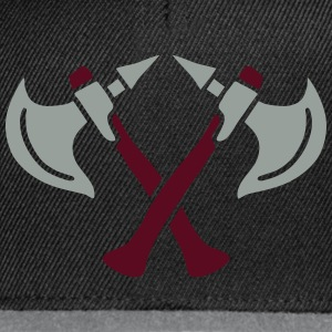 brave warrior gladiator axe tomahawk knights fight T-Shirts - Snapback Cap