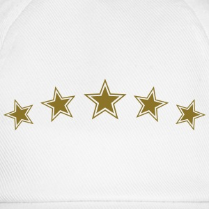 5 Star Gold Gift Hero Best Team Award Badge Winner T-Shirts - Baseball Cap