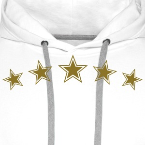5 Star Gold Gift Hero Best Team Award Badge Winner T-Shirts - Men's Premium Hoodie