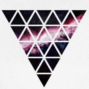 triangle of triangles galaxy driehoek van driehoeken melkweg T-shirts - Baseballcap