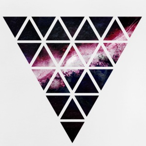 triangle of triangles galaxy triángulo de la galaxia de triángulos Camisetas - Camiseta bebé