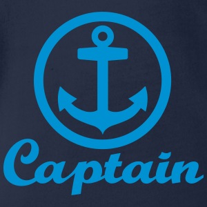 Captain T-Shirts - Baby Bio-Kurzarm-Body