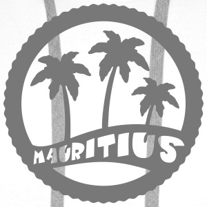 Mauritius palm trees T-Shirts - Men's Premium Hoodie