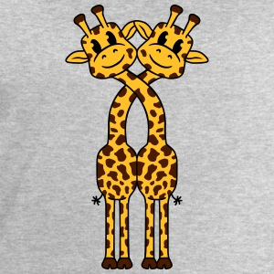 2 Giraffe lovers love cute couples T-Shirts - Men's Sweatshirt by Stanley & Stella