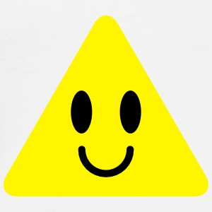 cute funny yellow triangle smiley smiling Bottles & Mugs - Men's Premium T-Shirt