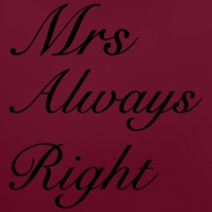 Mrs Right T-Shirts - Contrast Colour Hoodie