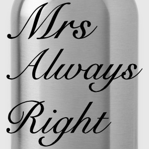 Mrs Right T-Shirts - Water Bottle