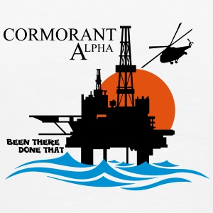 Cormorant North Sea Oil Rig Platform - Men's Premium T-Shirt