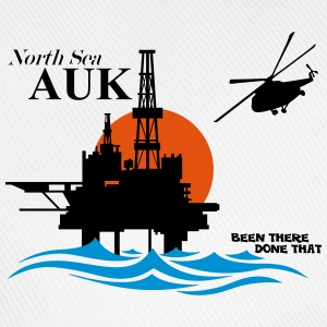 Auk North Sea Oil Rig Platform - Baseball Cap