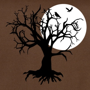 scary tree raven T-Shirts - Umhängetasche