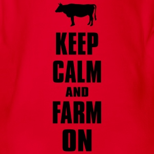 Keep Calm Farm Farmer Bauer Landwirt Shirt T-Shirts - Baby Bio-Kurzarm-Body
