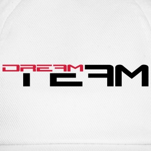 Text writing friends pair sports dream team T-Shirts - Baseball Cap
