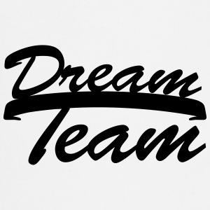 Text logo design couple dream team logo T-Shirts - Cooking Apron