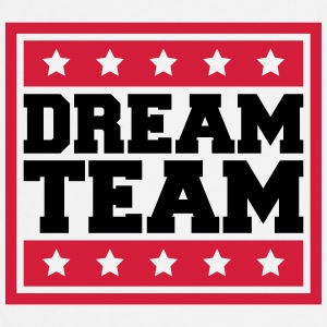 Text Box Sterne Logo Design Paar Dream Team T-Shirts - Cooking Apron