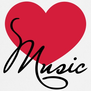 Heart I love music like classical choir band clef Koszulki - Fartuch kuchenny