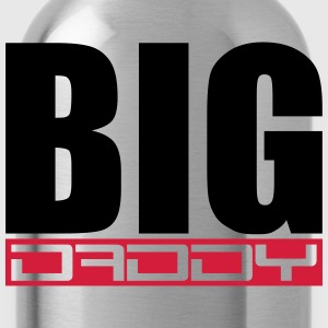 Father's day logo Big Daddy hero dad Vater T-Shirts - Water Bottle
