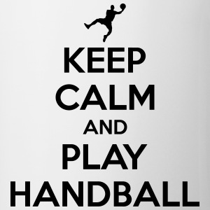 Keep calm and play handball Koszulki - Kubek