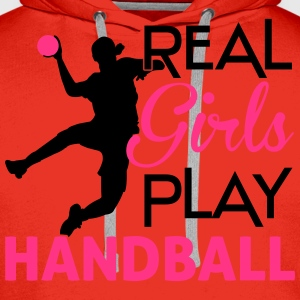Real Girls play Handball T-Shirts - Männer Premium Hoodie
