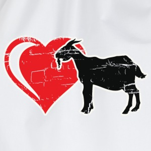 goat in heart Shirts - Drawstring Bag