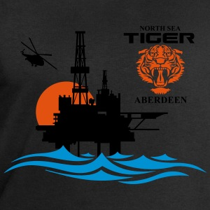 North Sea Tiger Oil Rig Platform Aberdeen - Men's Sweatshirt by Stanley & Stella