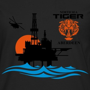North Sea Tiger Oil Rig Platform Aberdeen - Men's Premium Longsleeve Shirt