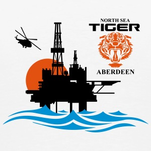 North Sea Tiger Oil Rig Platform Aberdeen - Men's Premium T-Shirt